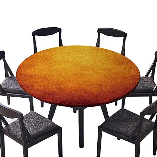- Round Premium Tablecloth Flame Paint Background Stain Resistant 50