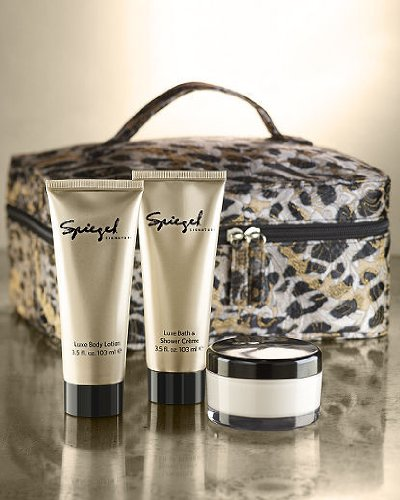 "Price comparison product image Spiegel 4-Pc Beauty Gift Set for Women: Luxe Body Lotion,  3.5 fl oz / Luxe Bath & Shower Creme,  3.5 fl oz and Body Butter,  3.5 fl oz / Case dimensions: 4""x7""x9""."