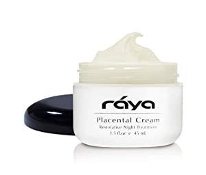 RAYA Placental Cream (402)   Restorative, Anti-Aging, and Moisturizing Facial Night Cream for All Non-Oily Skin   Calms Inflammation and Minimizes Pores