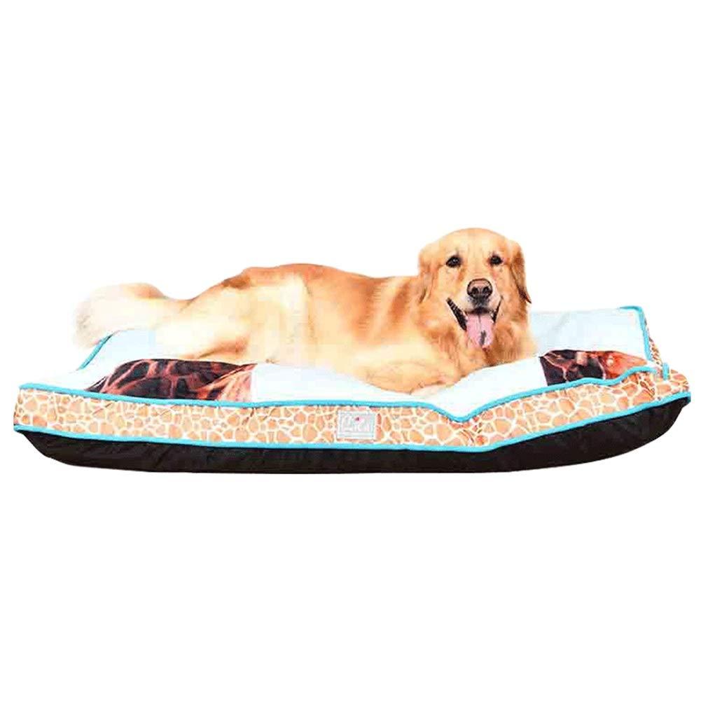 L 120×90×11cm LXLA Large Rectangle Pet Sofa Mats for Medium & Large Dogs, Giraffes Pattern Cover, Washable & Non-slip (Size   L 120×90×11cm)