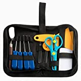 Petift 12 Pieces Vinyl Weeding Tool Kit(Weeder,Scrapers,Spatula,Tweezers,Scissors) Stainless Steel Precision Craft Basic Tool Set Craft Vinyl Tools for HTV,Lettering,ORACAL,Siser,Silhouette and Cameo