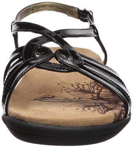 Black Piso De Style Soft Sandalias Patent Mujeres Talla 4xn8YZ