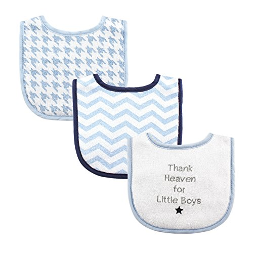 Luvable Friends Baby Drooler Bibs for Boys, Thank Heaven (Religious Accessories)