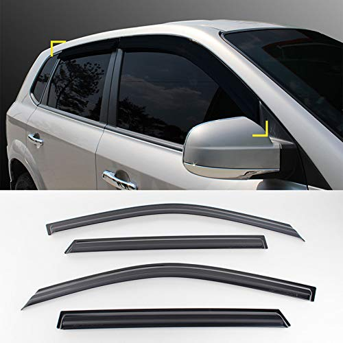 - Smoke Window Sun Vent Visor Rain Guards 4P For HYUNDAI 2005-2009 Tucson