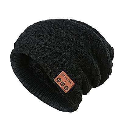 Wireless Bluetooth Beanie Hat ,Unisex Outdoor Sport Knit Hat with Rechargeable Detachable Stereo Speakers & Microphone,Unique Christmas Tech Gifts for Teen Young Boys Girls Men Women
