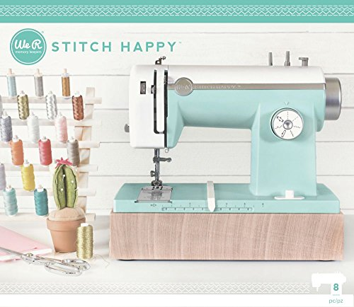American Crafts We R Memory Keepers Stitch Happy Sewing Machine, Mint