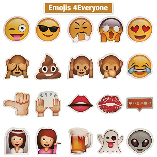 20 Piece Emoji Party Photo Booth Prop DIY Kit