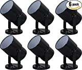 Mainstays 7.5'' Spotlight Accent Lamp, Black Finish (Pack of 6)
