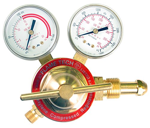 Flame Technologies VMAR-22 Medium Duty Acetylene Regulator, Victor Compatible by Flame Technologies