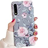 Electronics : Samsung Galaxy A50 Phone Case for Women & Girls,YeLoveHaw Flexible Soft Slim Fit Full-around Protective Cute Case Cover with Purple Floral Gray Leaves Pattern for Samsung GalaxyA50 6.4''(Pink Flowers)