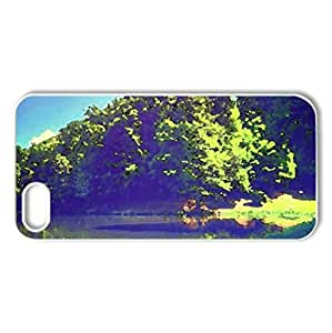 Beautiful lake - Case Cover for iPhone 5 and 5S (Lakes Series, Watercolor style, White)