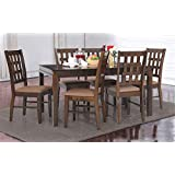 Royaloak Bolton Six Seater Dining Table Set (Walnut)