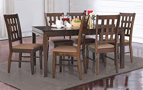 Royaloak Bolton Six Seater Dining Table Set Walnut Buy Online In Congo At Congo Desertcart Com Productid 64758801
