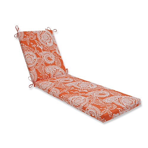 Pillow Perfect Outdoor | Indoor Addie Terra Cotta Chaise Lounge Cushion 80 in. L X 23 in. W X 3 in. - Terra Transitional Cotta