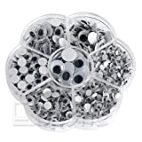 MEXUD 700Pcs/Box 7 Sizes DIY Round Self-adhesive Wiggly Googly Eyes For Doll Toy