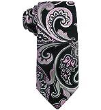 Susan G Komen Fancy Paisley Tie, Black II, OS