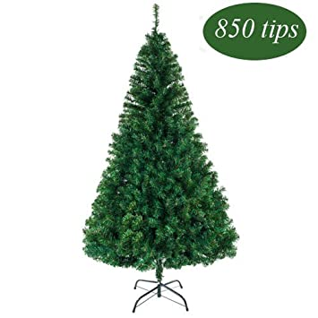 bonnlo 55 feet unlit artificial christmas pine tree with sturdy mental legs full 850 - Outdoor Artificial Christmas Tree