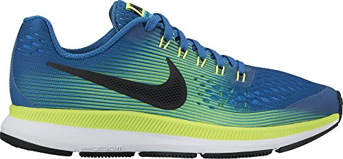30ac9a80ca63 Boy s Nike Zoom Pegasus 34 (GS) Running Shoe Industrial Blue Black Volt