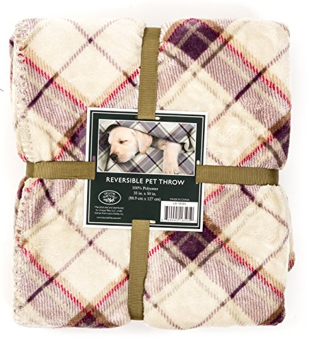 Laura Ashley Reversible Laura Ashley Reversible Microfur/Sherpa Pet Throw - Highland Check