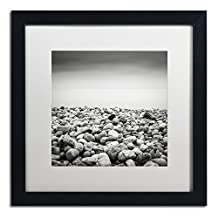Trademark Fine Art Pebble Beach by Dave MacVicar Frame, 16 by 16-Inch, White Matte