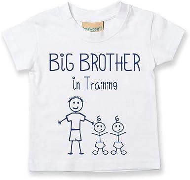 Big Brother en Entra/înement Bleu T-shirt B/éb/é Tout-petit Enfants Disponible en Tailles de 0-6 Mois pour 14-15 Ans nouveau b/éb/é Brother Cadeau 0-6 Mois Bleu