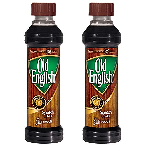 Old English Scratch Cover for Dark Woods, 8 fl oz Bottle, Wood Polish (Pack of 2)