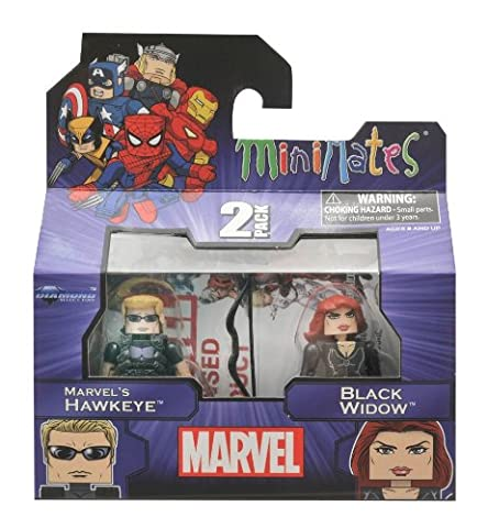 Marvel Minimates Series 17 Hawkeye and Black Widow (Marvel Minimate Black Widow)