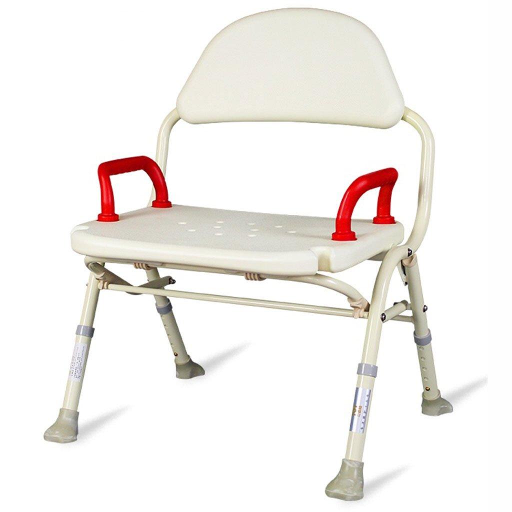 バスの椅子古い人アルミ合金折りたたみ式シャワースツール妊娠中の女性シャワーチェアバスルームバススツール B07DMW5ZH3