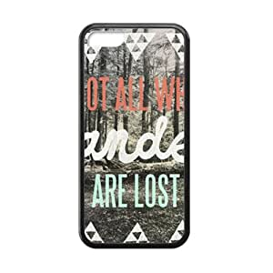 Wesley Bird Not All Who Wander Are Lost Cell Phone Case for Iphone 5C