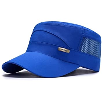 VISER Gorra de béisbol unisex de techo plano y militar Sombrero de ...