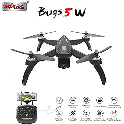 Studyset MJX Bugs 5W B5W GPS RC Drone with WiFi FPV 1080P HD Camera Auto Return Follow Me Mode RC Quadcopter from Studyset
