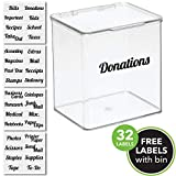 mDesign Plastic Stackable Home, Office Supplies