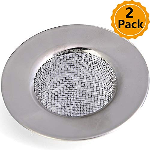 - Wild Tribe 2 PCS Stainless Steel Sink Strainer SiFree Waste Plug Bathroom Hole Hair Filter Perfect for Kitchen Sinks, Rim 3in Diameter