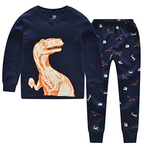 babycop Boys Pajamas Dinosaur Little Kids Children PJS Set 100% Cotton Toddler Sleepwears