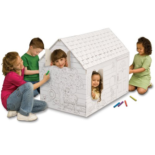Cardboard Playhouse (My Very Own House Coloring Playhouse, Hide and)