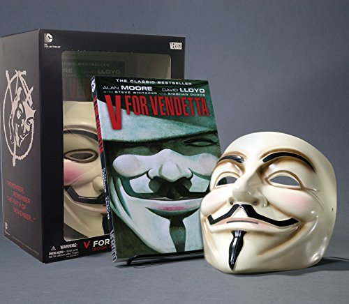 V for Vendetta Deluxe Collector Set, Book and Mask Set [Moore, Alan] (Tapa Blanda)