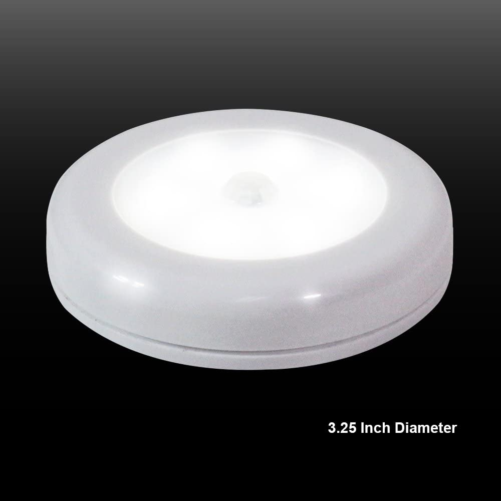 AGG2200 Built-in Magnet eTopLighting 6 Pack LED Motion Sensor Night Light Mini Round Wall Light with 3M Double Side Adhesive Pad