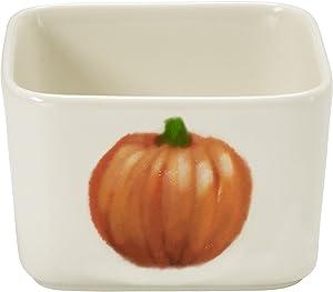 Precious Moments Celebrations Square Fall Appetizer Bowl, White, Orange