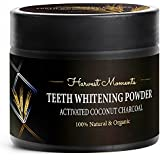 Premium Teeth Whitening Activated Coconut Charcoal Powder - Best Tooth Whitening Kit - Powerful Teeth Whitener Helps You Boost Your Attractiveness & Confidence - 100% Organic & Natural