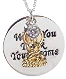 """Buddha """"What You Think, You Become"""" 15"""" Inch Necklace with 3"""" Extender - Inspirational"""