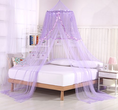 Princess Bed Canopy Lights purple product image