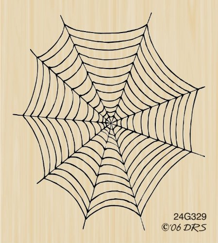 Empty Spider Web Rubber Stamp By DRS Designs ()