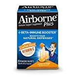 Airborne Plus Beta-Immune Booster Zesty Orange Powder Packets, 20 count – Vitamin C Immune Support Supplement