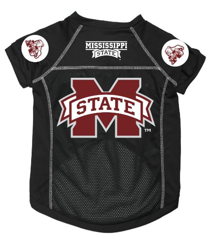Dog Zone NCAA Pet Football Jersey, Medium, Mississippi State University, My Pet Supplies