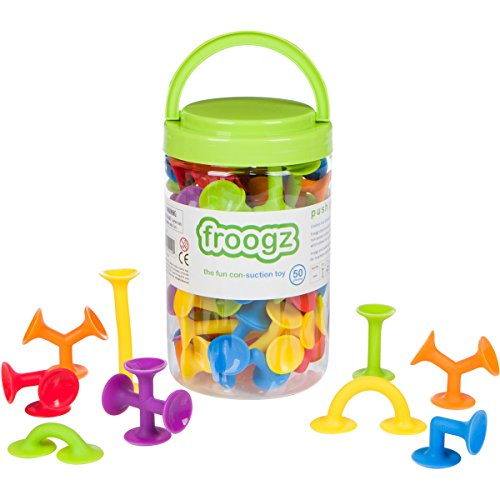 Image of the Froogz - 50 Piece Suction Toy Construction Set | Building Kit