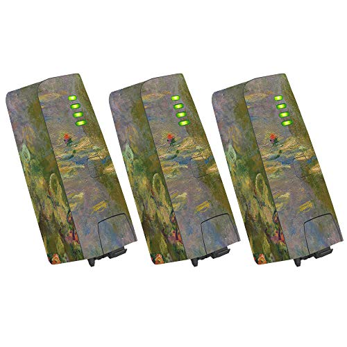 MightySkins Skin for Parrot Anafi Drone Battery (3 Pack) - Water Lilies | Protective, Durable, and Unique Vinyl Decal wrap Cover | Easy to Apply, Remove, and Change Styles | Made in The USA