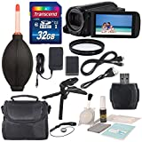 Canon 16GB VIXIA HF R70 Full HD Camcorder Along with UV Filter, 32 GB and Deluxe Accessory Bundle with Cleaning Tools
