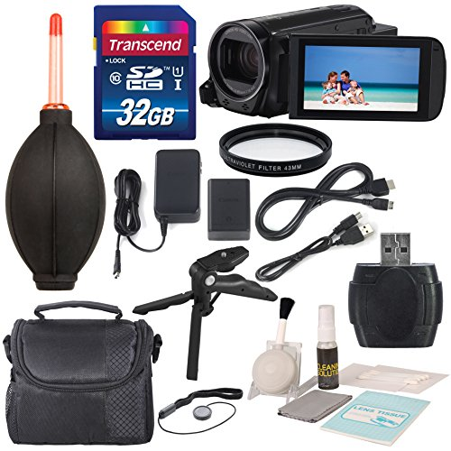 Canon 16GB VIXIA HF R70 Full HD Camcorder Along with UV Filter, 32 GB and Deluxe Accessory Bundle with Cleaning Tools by Canon