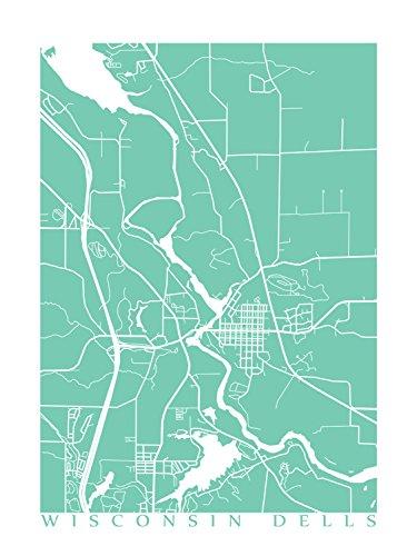 Amazon.com: Wisconsin Dells Map Print: Handmade on