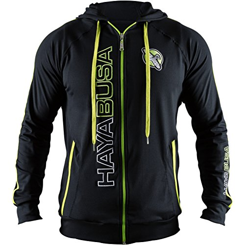Hayabusa Prime Hoodie - Black/Yellow, Medium